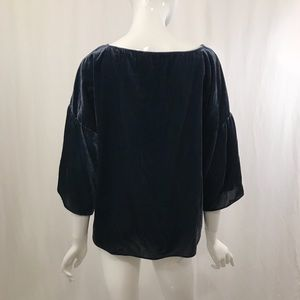 Vince Camuto Tops - Vince Camuto Dusty Blue Velvet Bell Sleeve Top